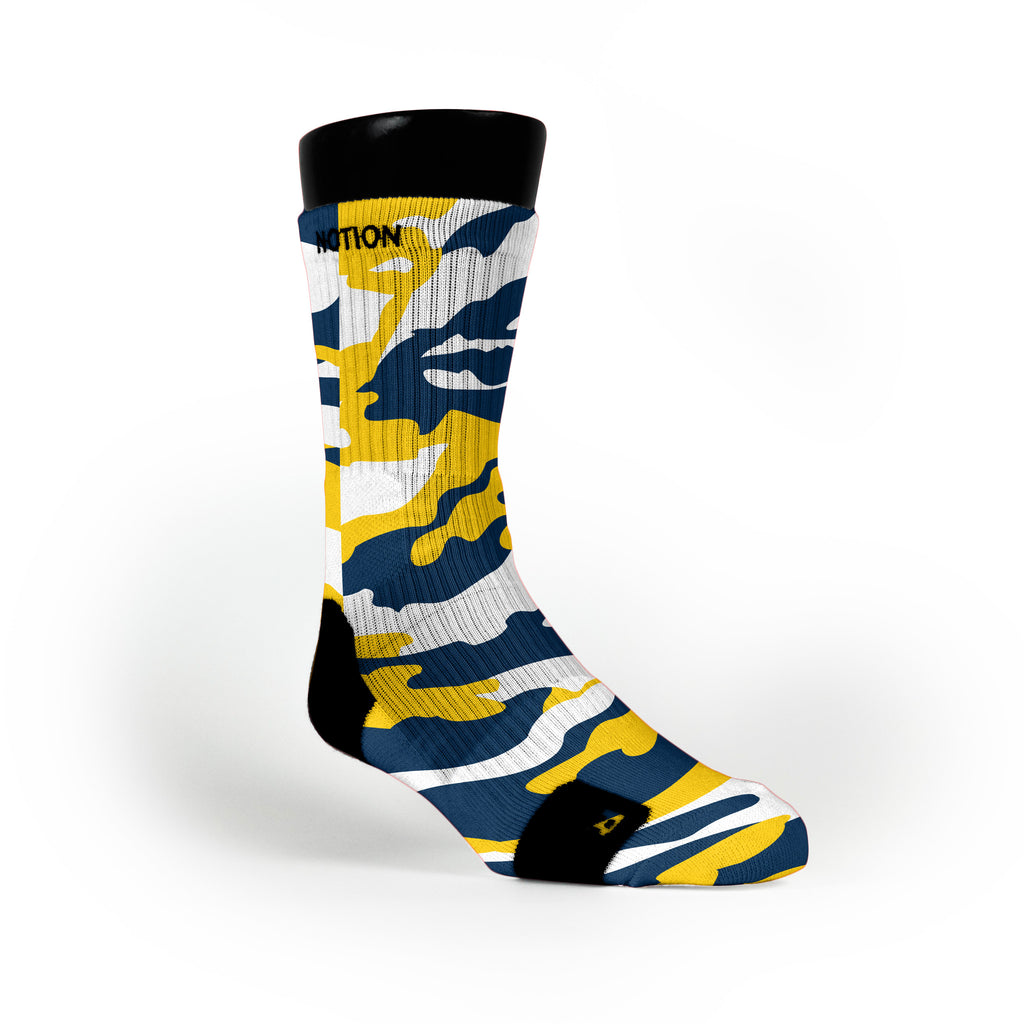 Michigan Camo Custom Notion Socks