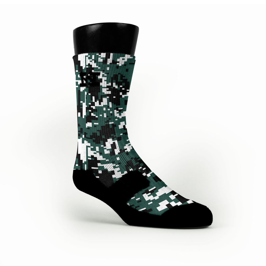 Michigan State Digital Camo Custom HoopSwagg Socks