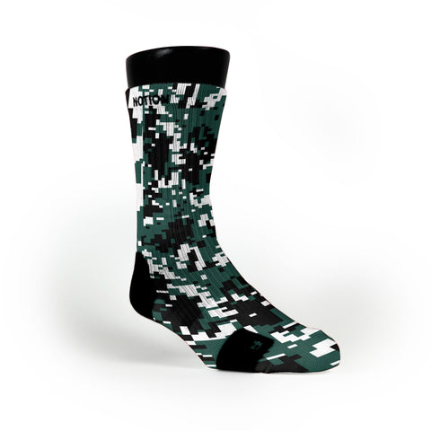 Michigan State Digital Camo Custom Notion Socks