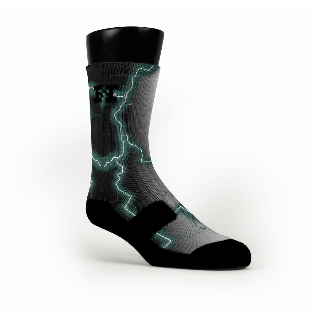 Michigan State Storm Custom HoopSwagg Socks