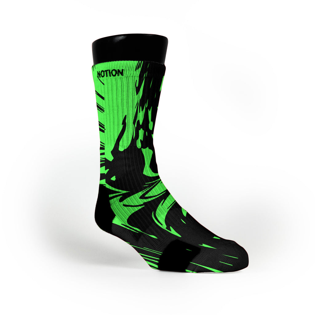 Midnight Green Swirl Custom Notion Socks