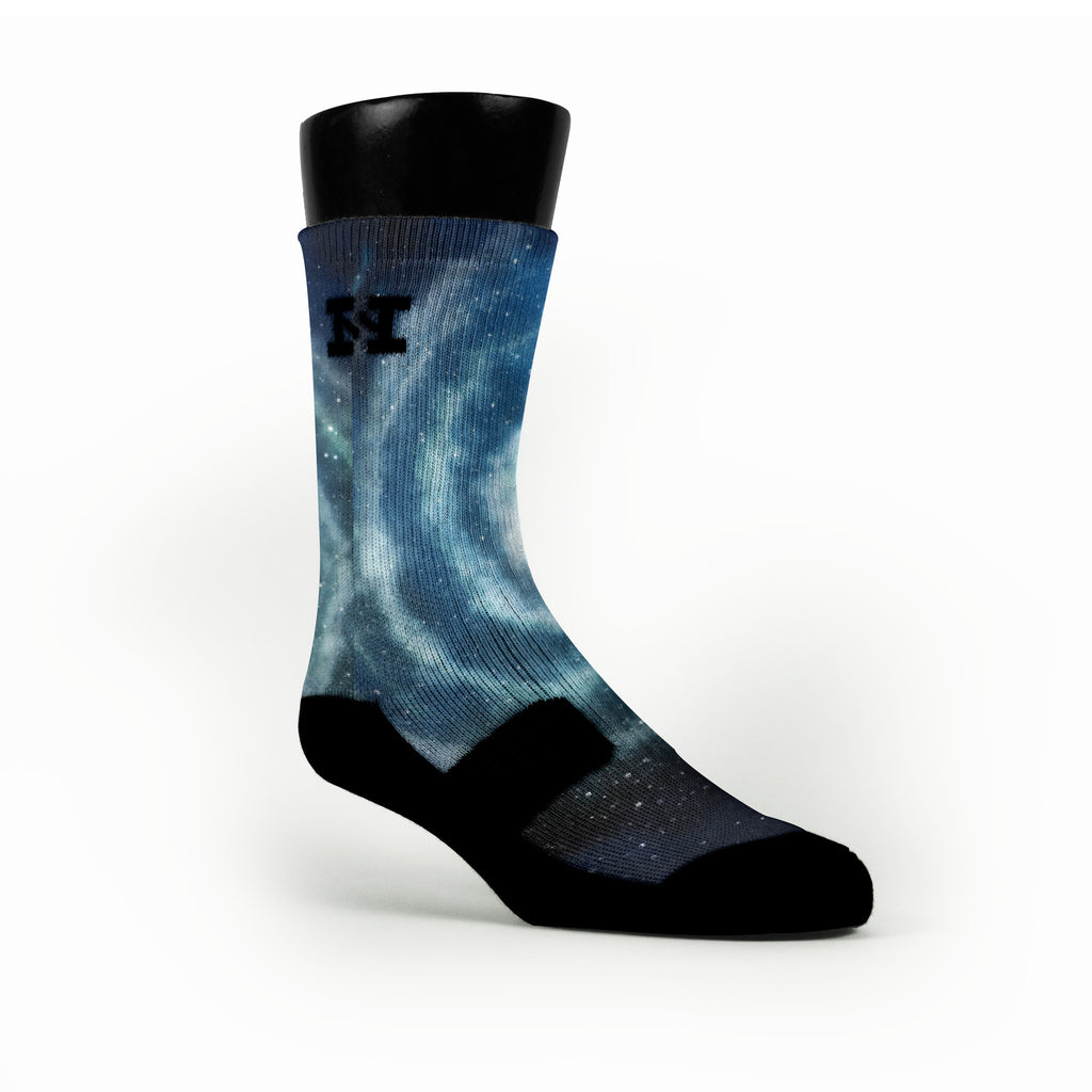 Milky Way Galaxy Custom HoopSwagg Socks