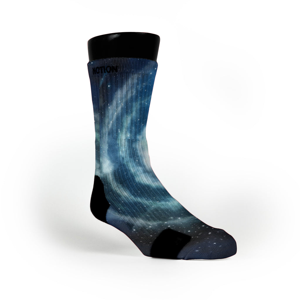 Milky Way Galaxy Custom Notion Socks