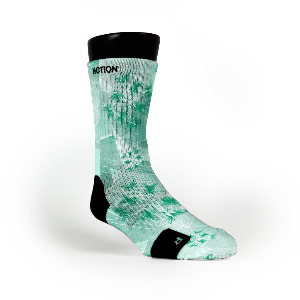 Mint Crystals Custom Notion Socks