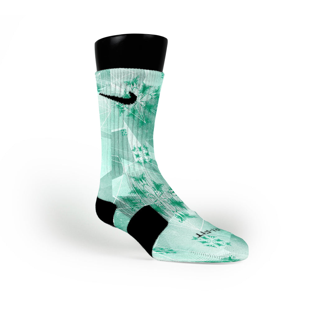Mint Crystals Custom Nike Elite Socks