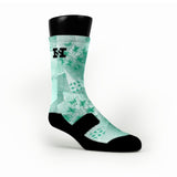 Mint Crystals Custom HoopSwagg Socks