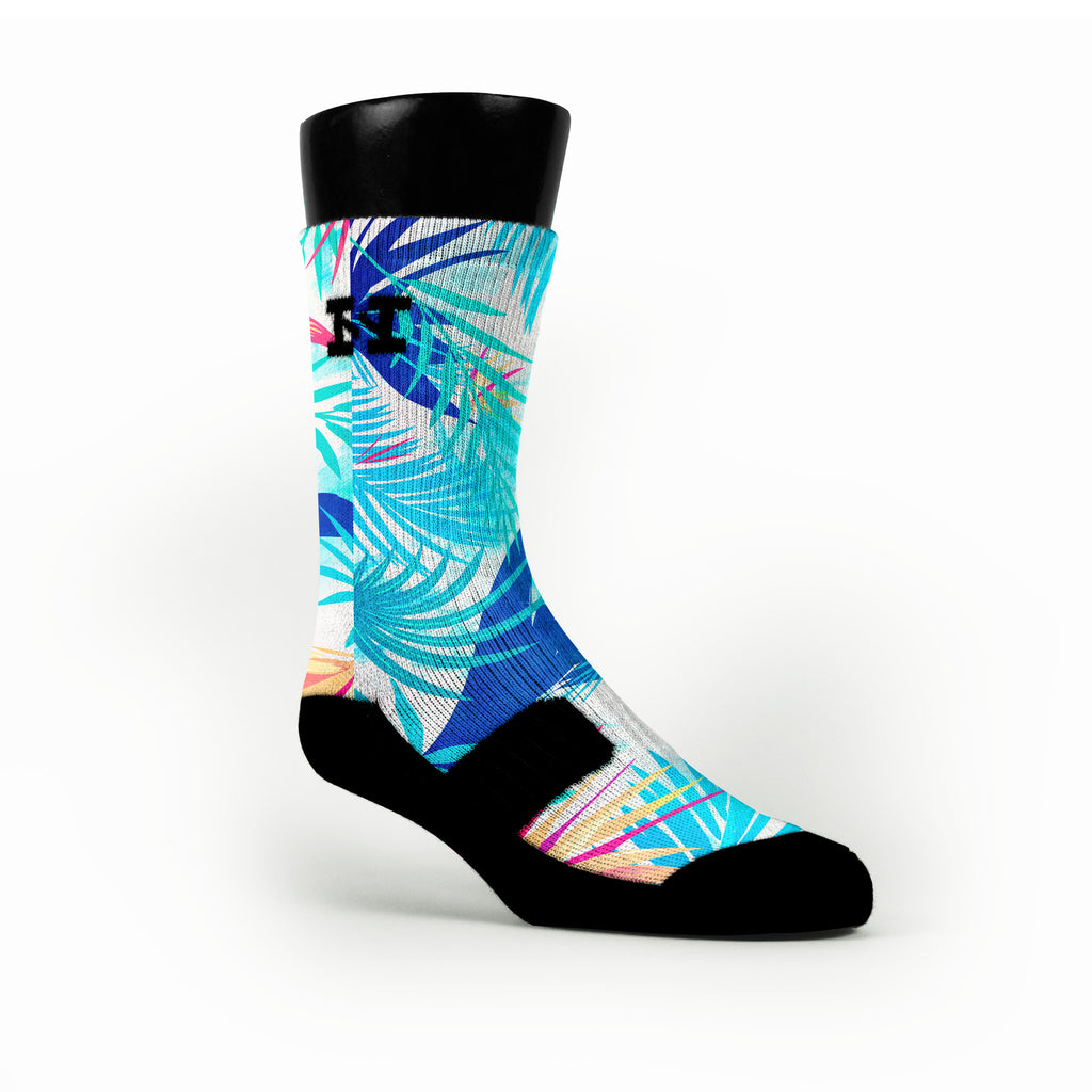 Mist Tropics Custom HoopSwagg Socks
