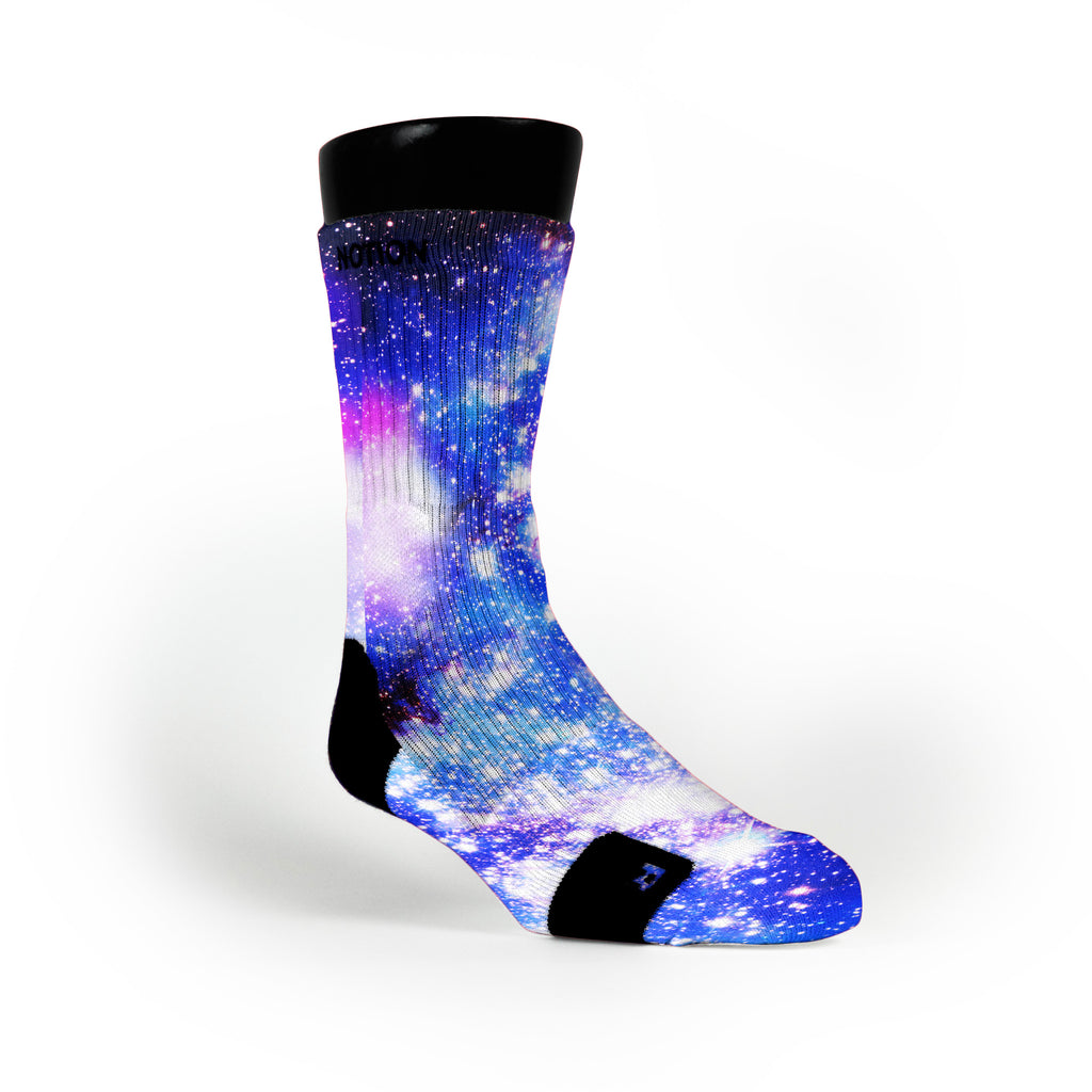 Moon Man Galaxy Custom Notion Socks