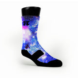 Moon Man Galaxy Custom HoopSwagg Socks