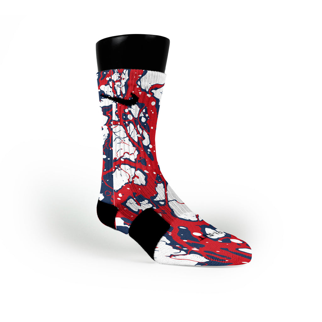 New England Bolts Custom Nike Elite Socks