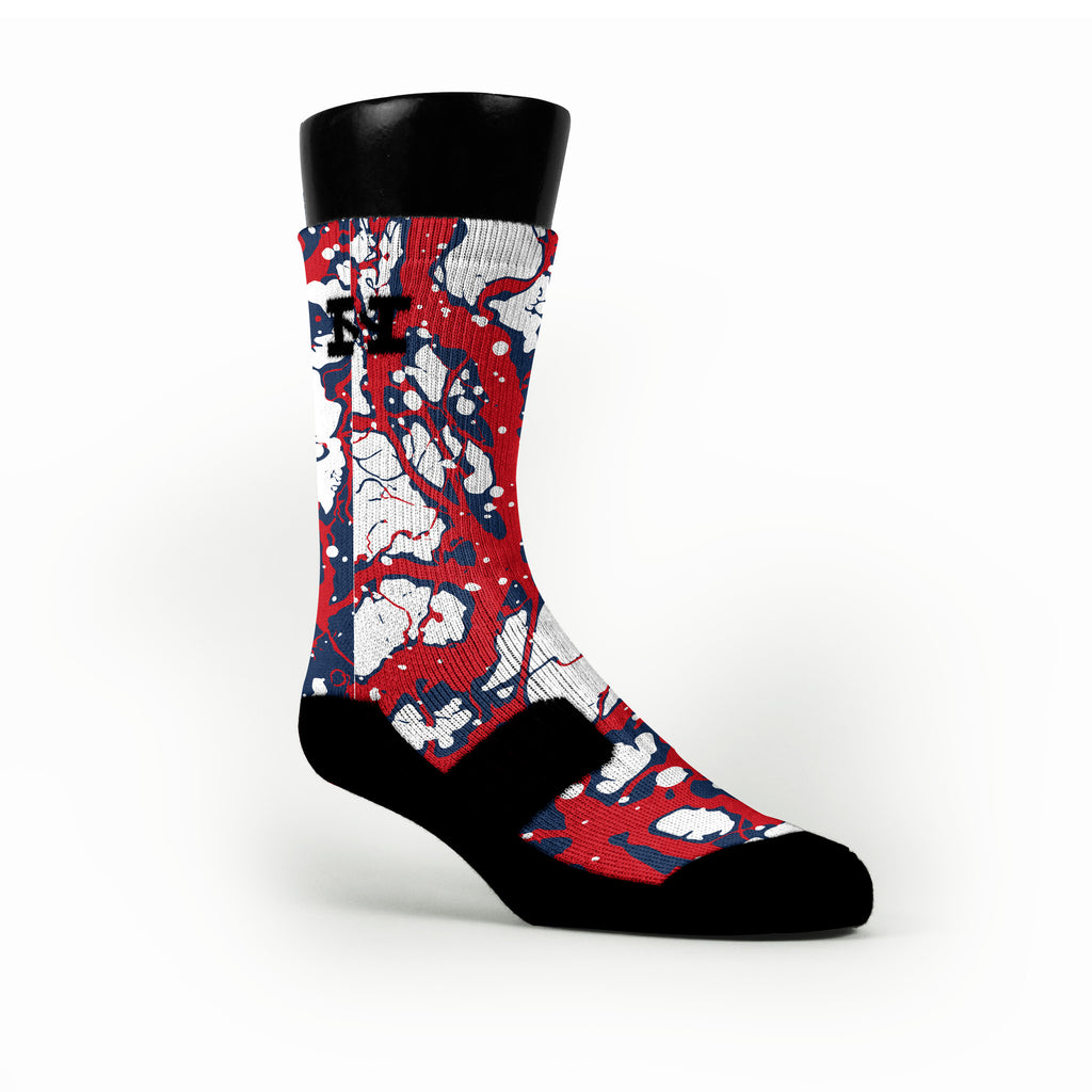 New England Bolts Custom HoopSwagg Socks