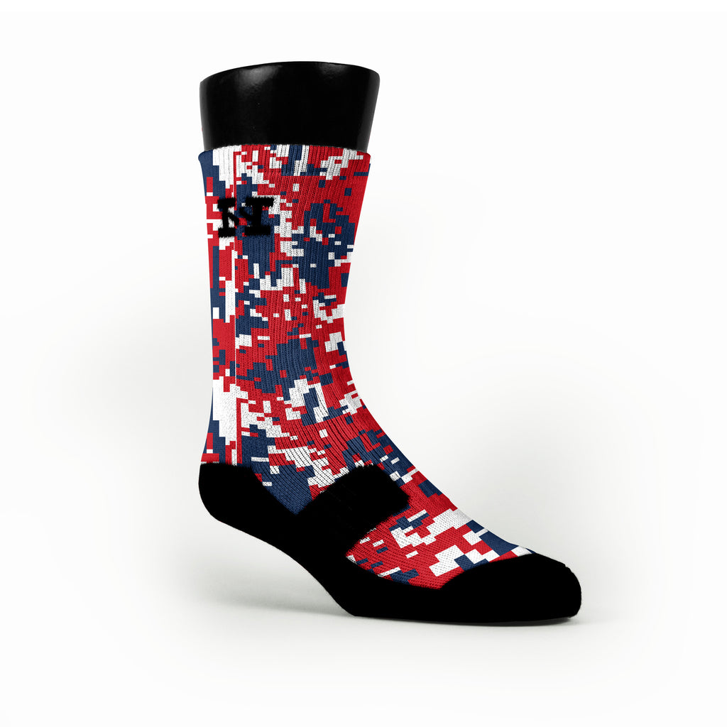 New England Digital Camo Custom HoopSwagg Socks