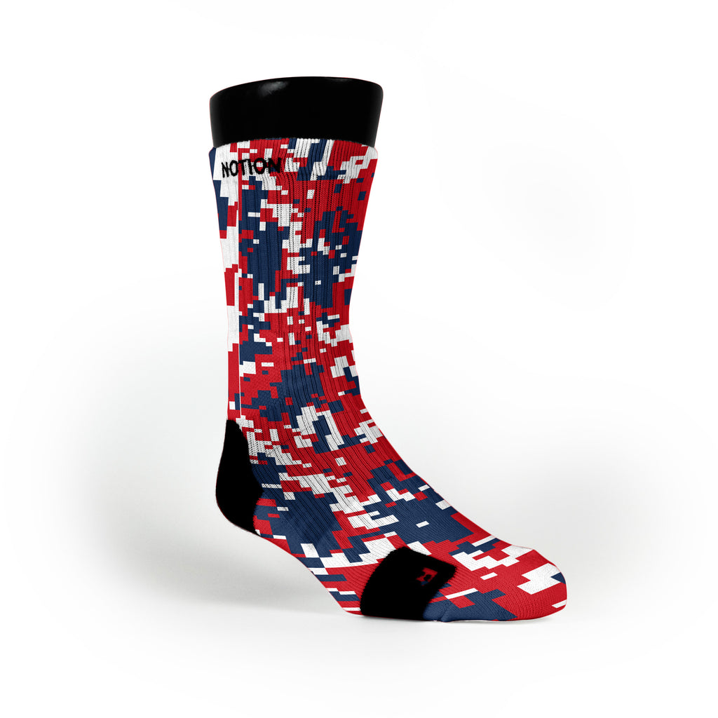 New England Digital Camo Custom Notion Socks