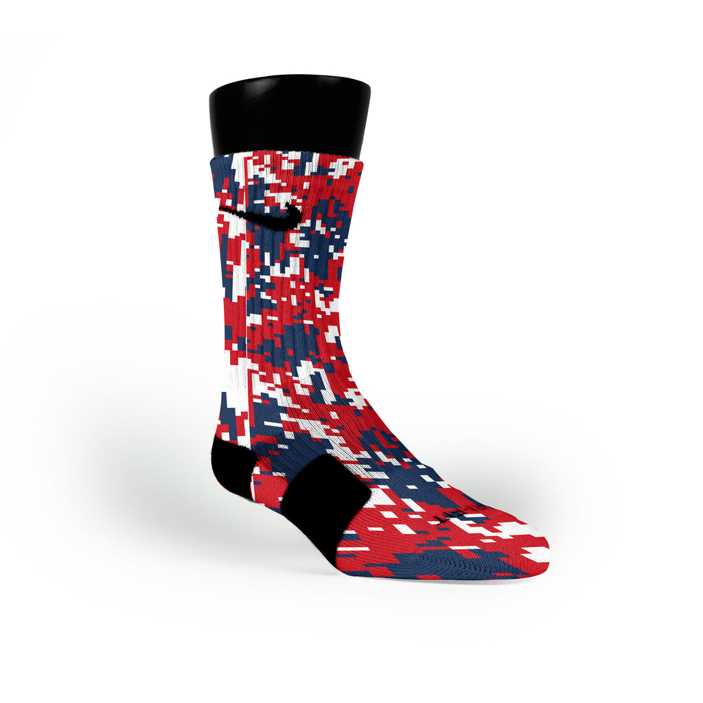 New England Digital Camo Custom Nike Elite Socks