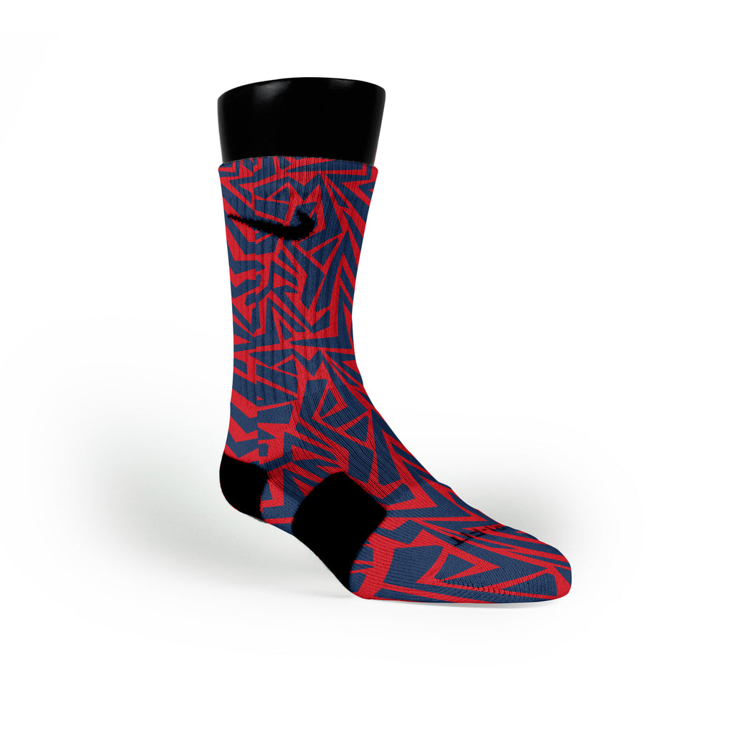 New England Maze Custom Nike Elite Socks