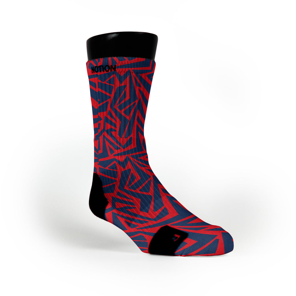 New England Maze Custom Notion Socks