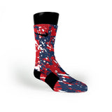 New England Splatter Custom Nike Elite Socks
