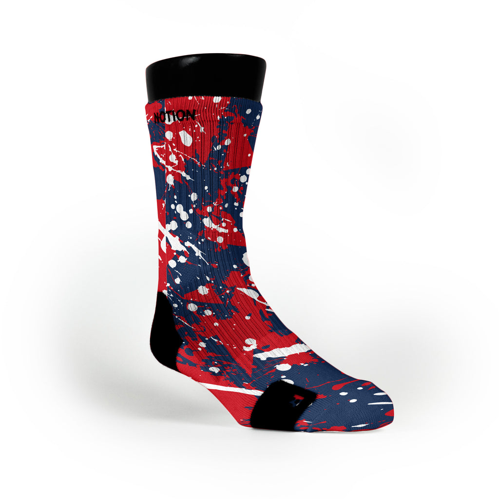 New England Splatter Custom Notion Socks