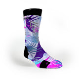 Night Paradise Tropics Custom Notion Socks