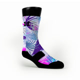 Night Paradise Tropics Custom HoopSwagg Socks