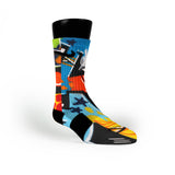 Ny Graffiti Custom Nike Elite Socks