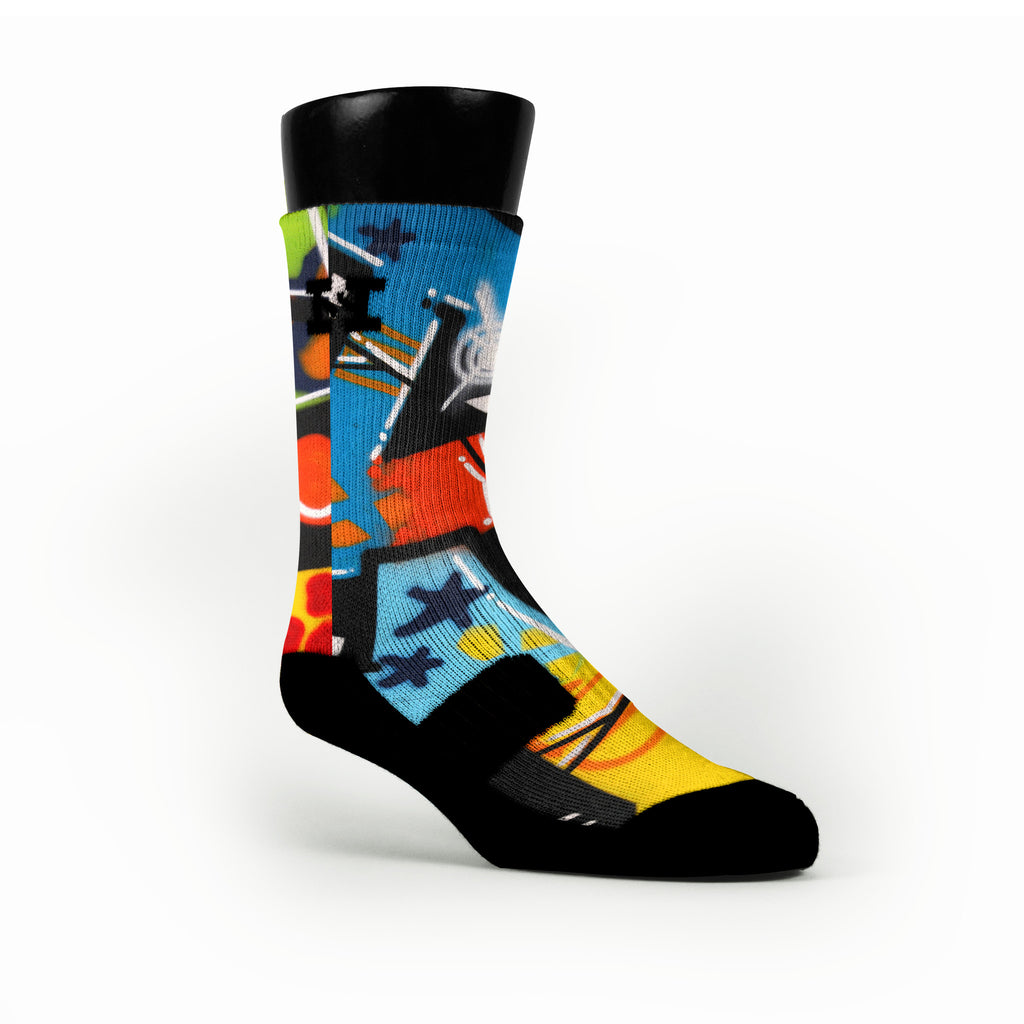 Ny Graffiti Custom HoopSwagg Socks