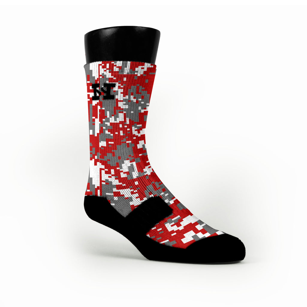 Ohio State Digital Camo Custom HoopSwagg Socks