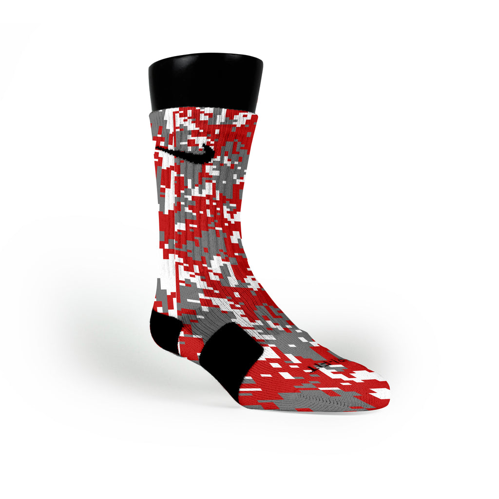 Ohio State Digital Camo Custom Nike Elite Socks