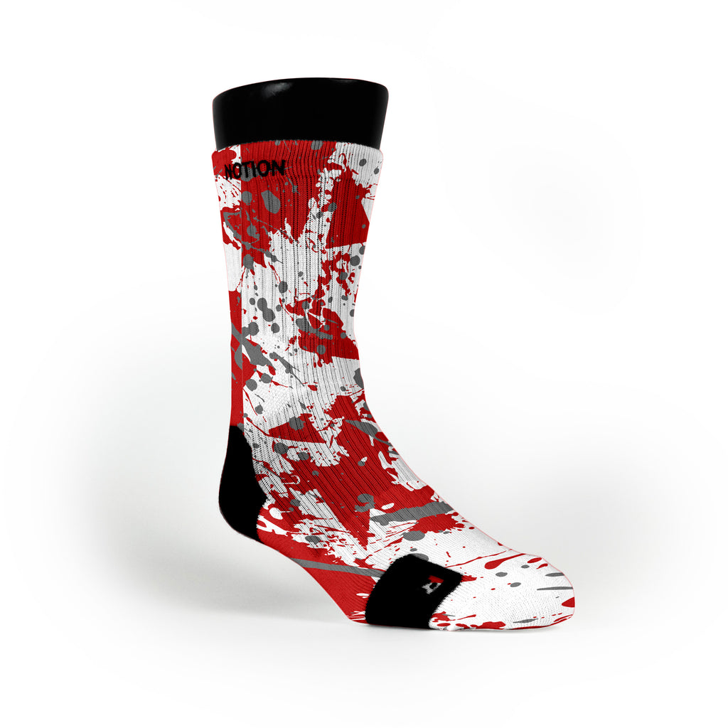 Ohio State Splatter Custom Notion Socks