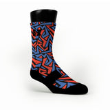 Oklahoma Maze Custom HoopSwagg Socks