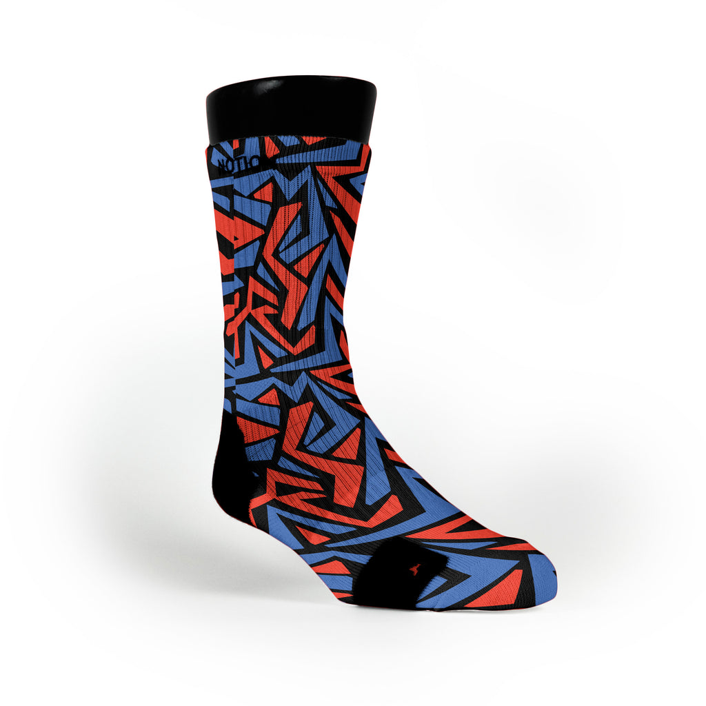 Oklahoma Maze Custom Notion Socks