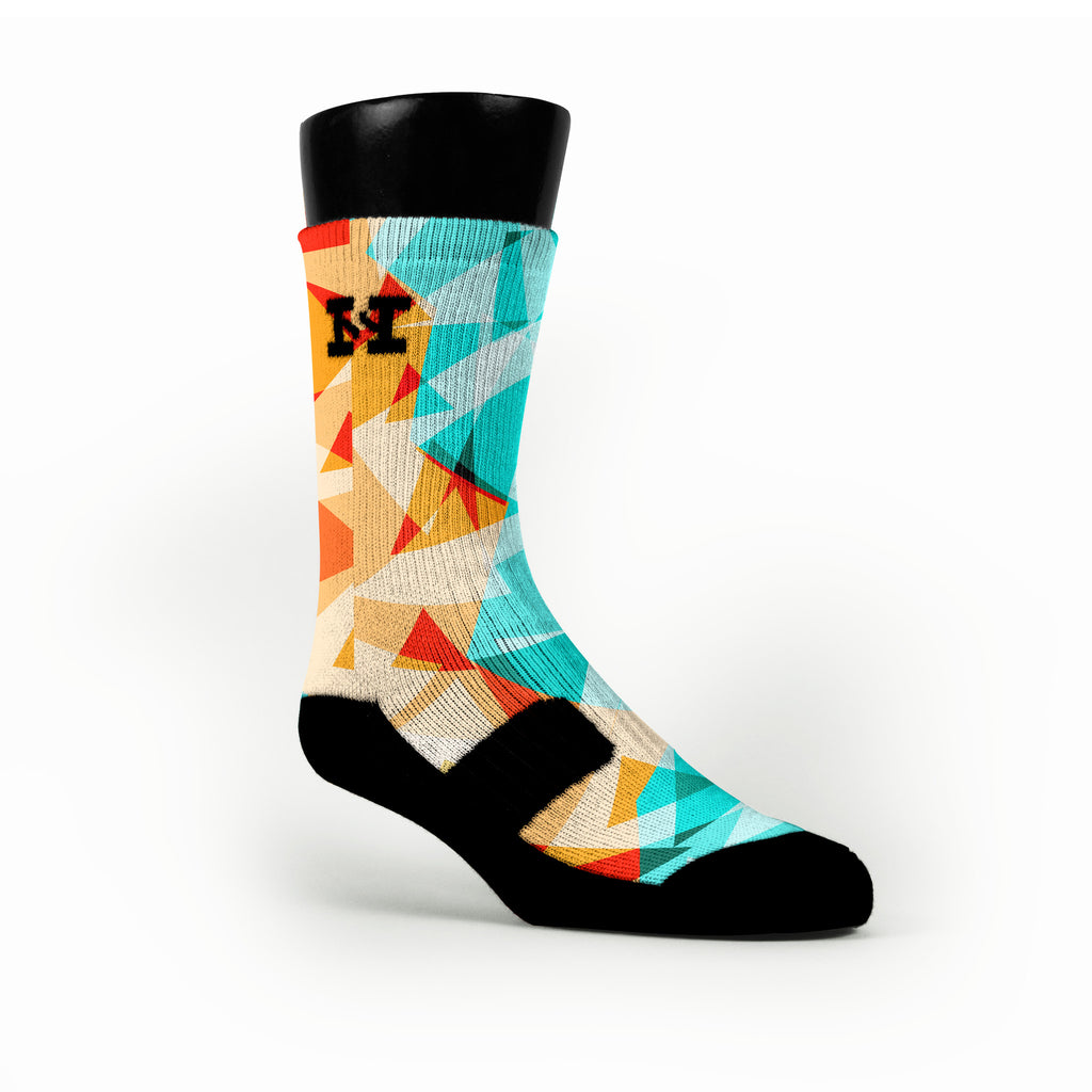 Orange Diamonds Custom HoopSwagg Socks