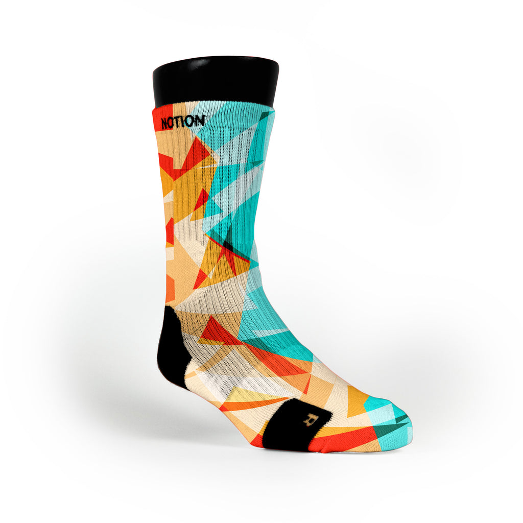 Orange Diamonds Custom Notion Socks