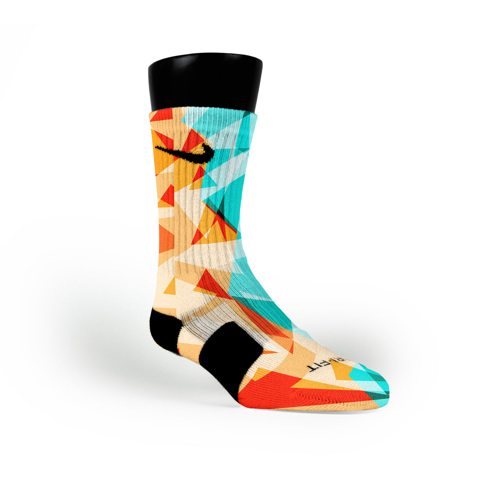 Orange Diamonds Custom Nike Elite Socks