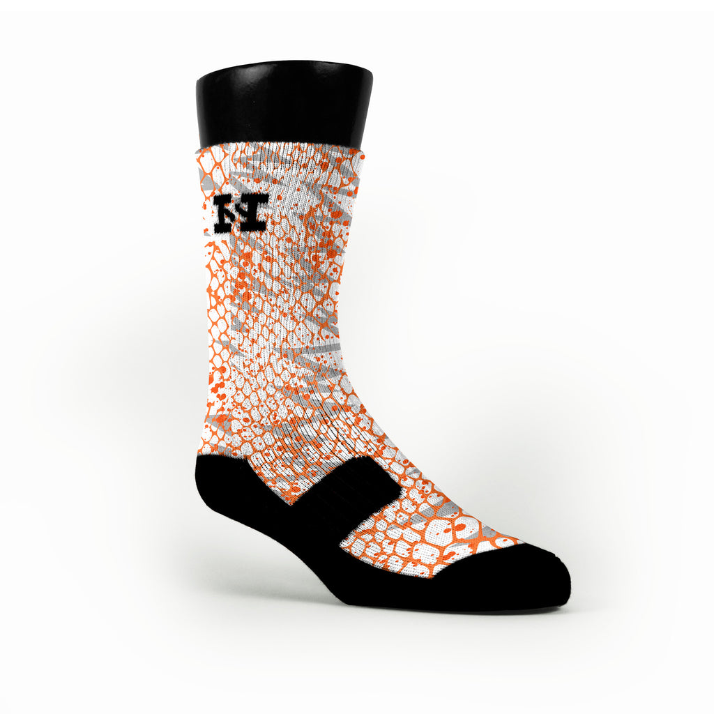 Orange Philippines Custom HoopSwagg Socks