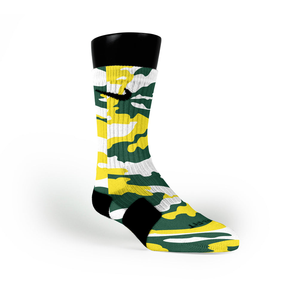 Oregon Camo Custom Nike Elite Socks