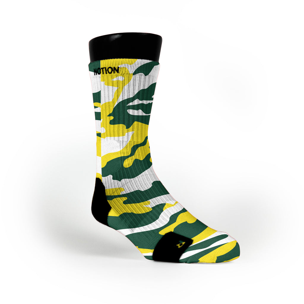Oregon Camo Custom Notion Socks
