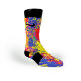Paint Splatter Custom Nike Elite Socks
