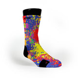 Paint Splatter Custom Notion Socks