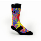 Paint Splatter Custom HoopSwagg Socks