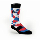 Patriotic Camo Custom HoopSwagg Socks