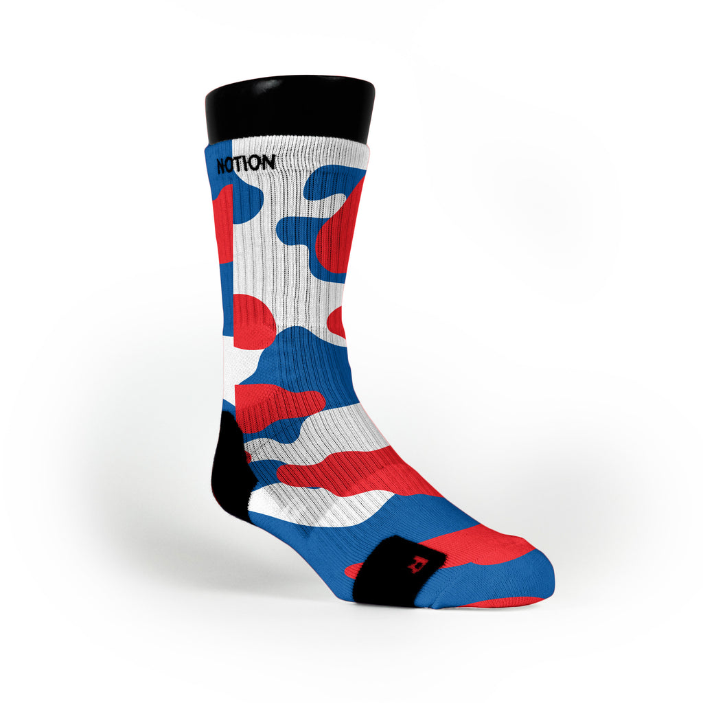 Patriotic Camo Custom Notion Socks