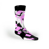 Pink & Black Hardwood Camo Custom Nike Elite Socks