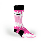 Pink Bubblegum Pops Custom Nike Elite Socks