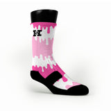 Pink Bubblegum Pops Custom HoopSwagg Socks