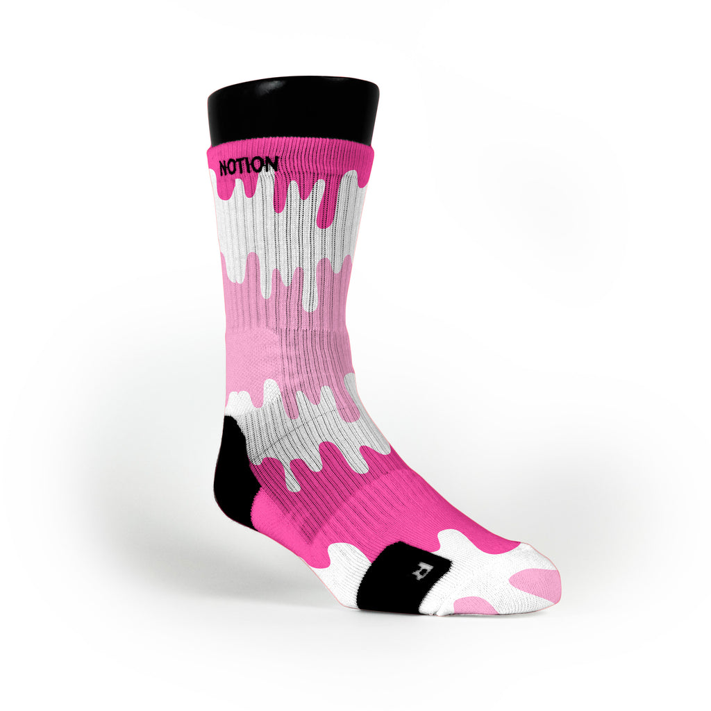 Pink Bubblegum Pops Custom Notion Socks