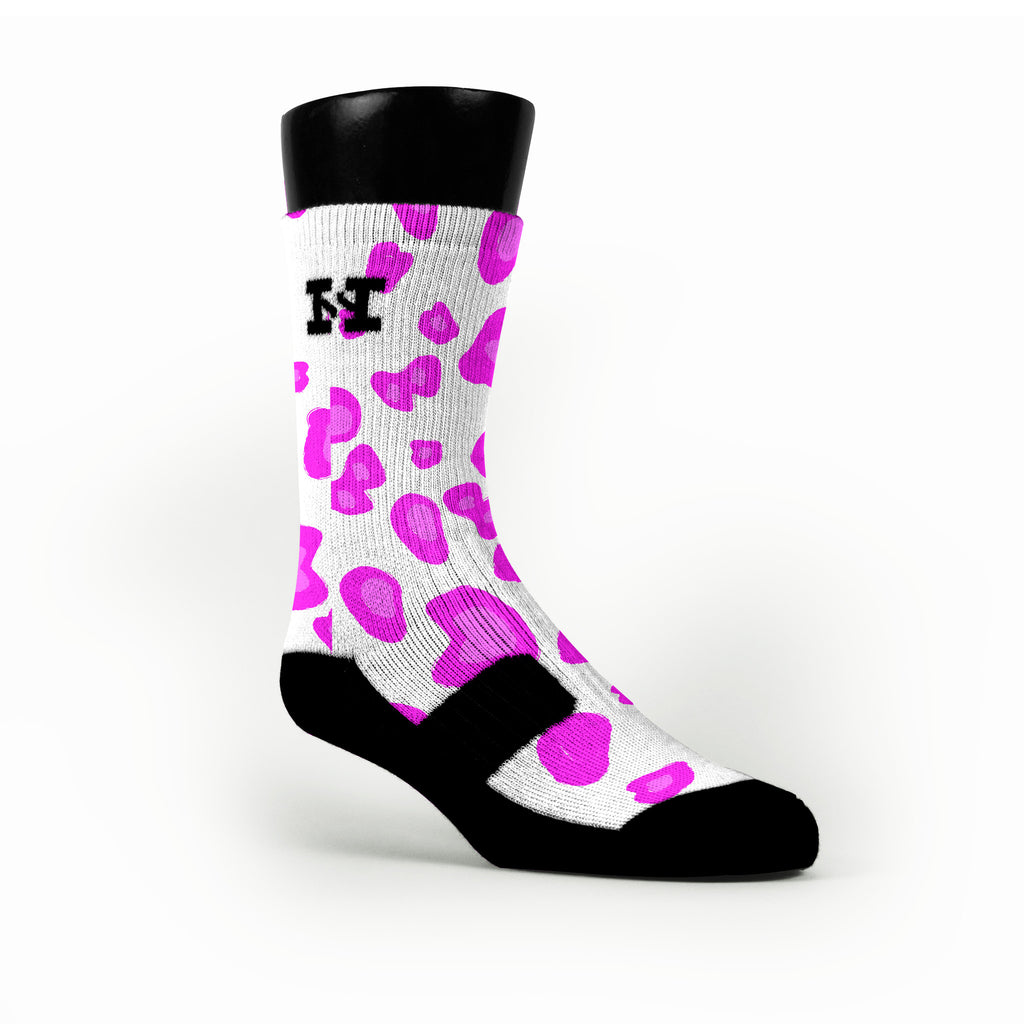 Pink Cheetah Custom HoopSwagg Socks