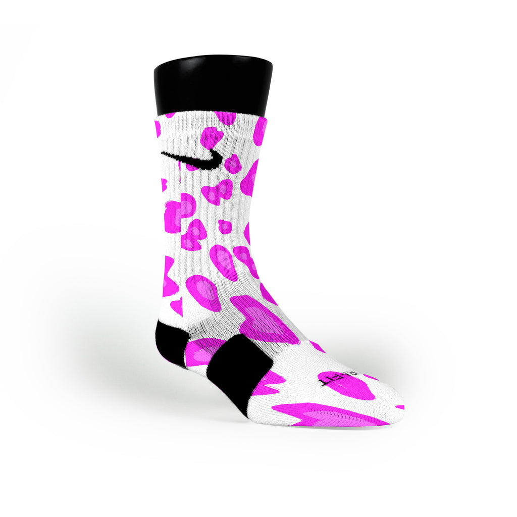 Pink Cheetah Custom Nike Elite Socks