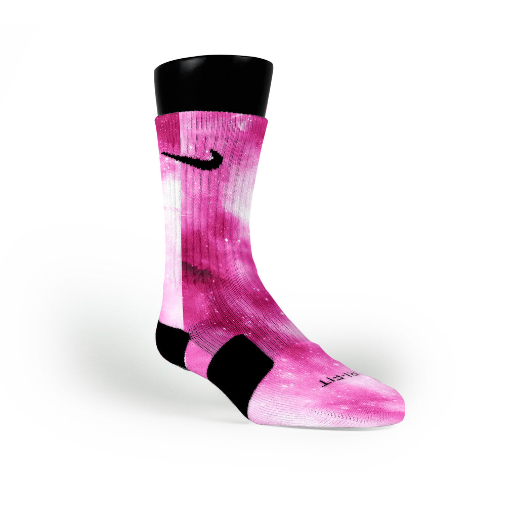 Pink Galaxy Custom Nike Elite Socks