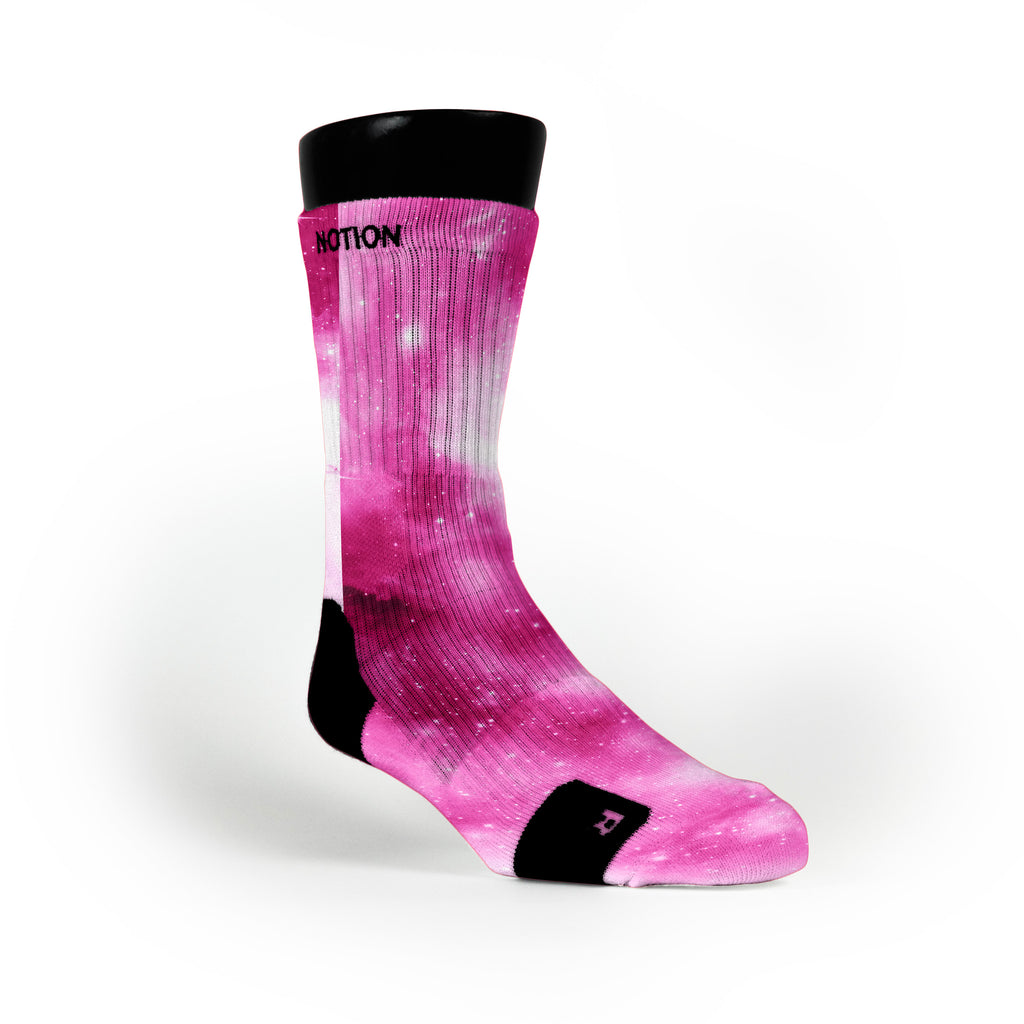 Pink Galaxy Custom Notion Socks